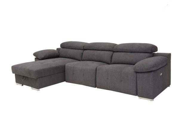 gray sofa chaise with storage