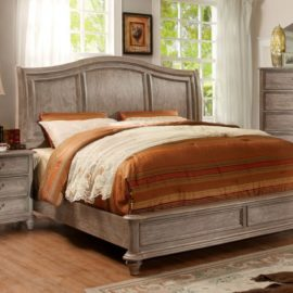 natural wood rustic bed