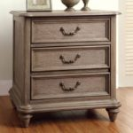 natural wood rustic bed nightstand