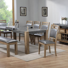 2442 Grey rustic dining table