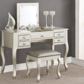 silver vanity desk