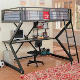 workstation full metal bunk bed