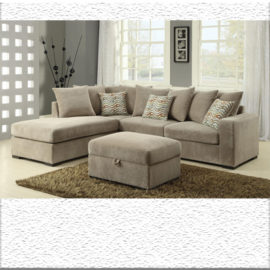 sectional chaise beige