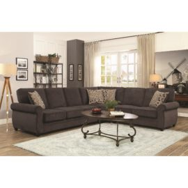 Brown sleeper sectional