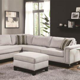 beige track arm sofa chaise