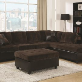 two tone sectional brown