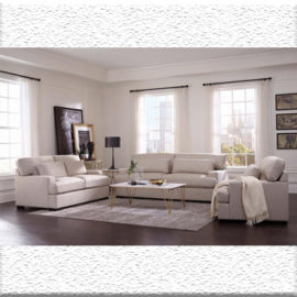 classic straight arm sofa set