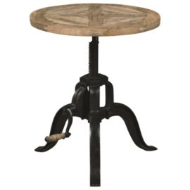 industrial Adjustable Height End Table