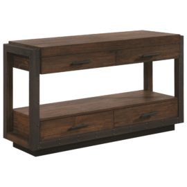 industrial coffee table end and sofa table