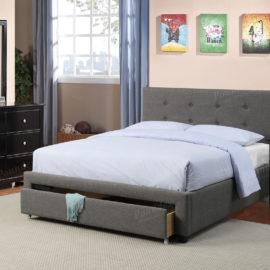 Storage tufted bed frame