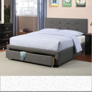 Storage tufted bed frame