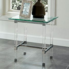 Acrylic legs coffee, end console table