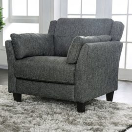 Grey Upholstered Accent Chair