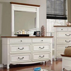 Galesburge white cottage bedroom