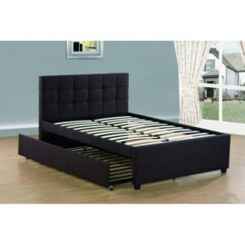 Full upholstered bed trundle