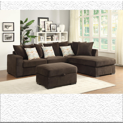 Chocolate sectional chaise