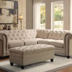 Beige Tufted Sectional