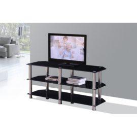 Black modern TV stand