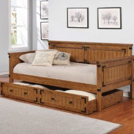 walnut trundle daybed