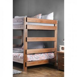 Full on Full Natural Wood Bunk Bed