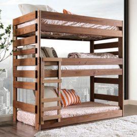 Natural Wood Triple bunk bed