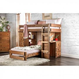 Loft Bed Natural Wood