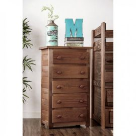 Natural Wood 5Drawer Chest