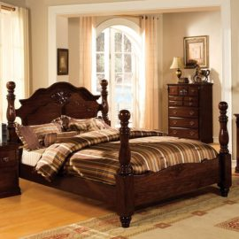 Traditional Bed Dark Oak