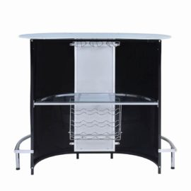 Black and Chrome bar unit