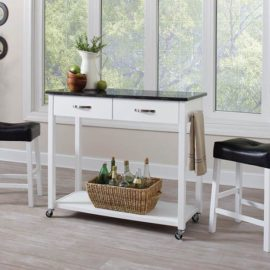 White Three-Piece Dining Set