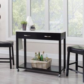 Black Three-Piece Dining Set