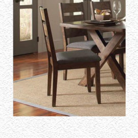 Rustic upholstered dining chair
