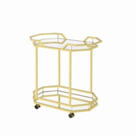 Gold Nickel Serving Cart