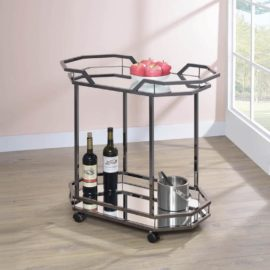 Black Nickel Serving Cart