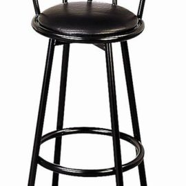 Metal Swivel Black Bar Stool