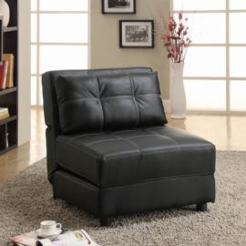 Leather Black Accent chair