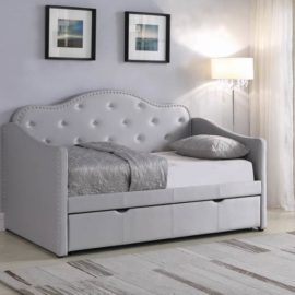 Upholstered daybed white