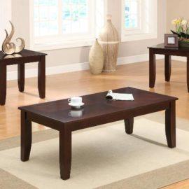 Coffee table end table set Mahogany