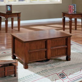 Walnut lift top coffee table set