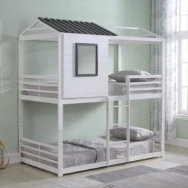 House twin over twin bunk bed