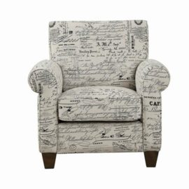 Print Fabric Accent Chair