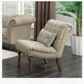 Josephine Tufted chair Beige