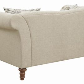 Josephine Tufted Loveseat Beige