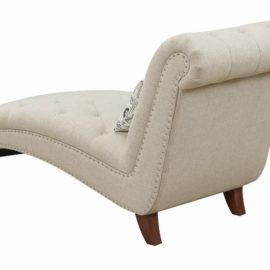 Josephine Tufted Chaise Beige