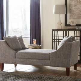 Grey double sided chaise