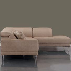 Beige sectional with adjustable headrest