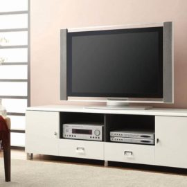 "71"" tv stand white modern"