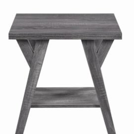 1-Shelf Rectangular Table Distressed Grey