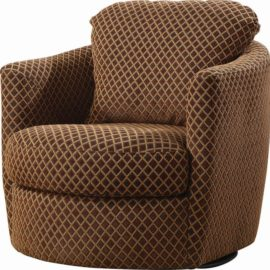 Brown Swivel accent Chair