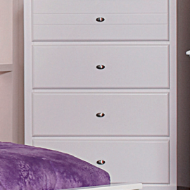 White 5 Drawers chest